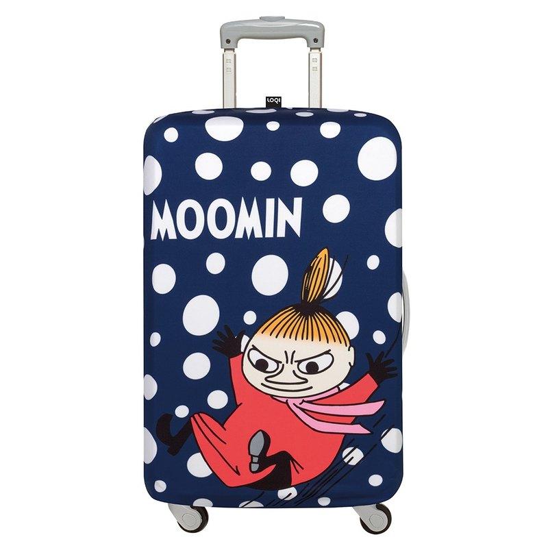 LOQI 行李箱外套/Moomin 小不點藍【M號】