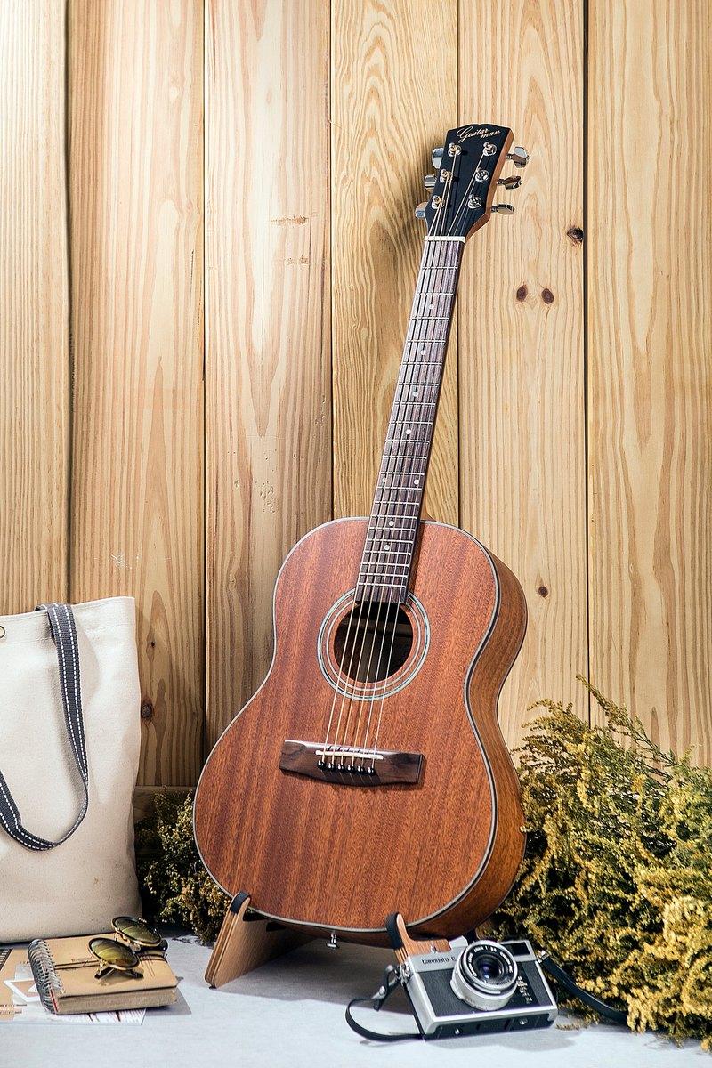 台灣原創 guitarman B-31B 34吋 全桃花心木面單 手工旅行吉他