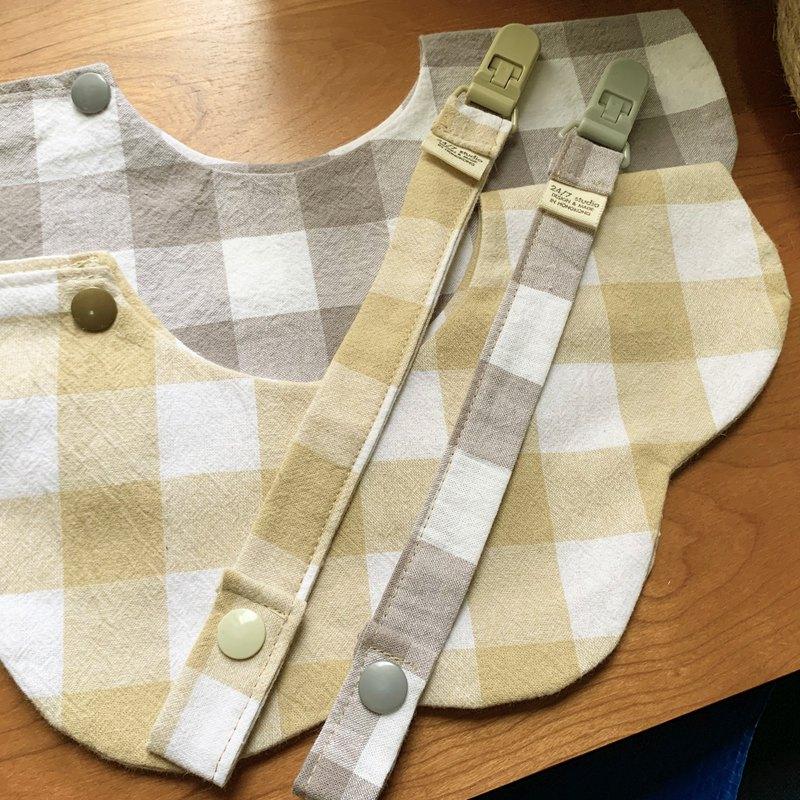 日本純綿布料口水巾圍兜兜 - 花環