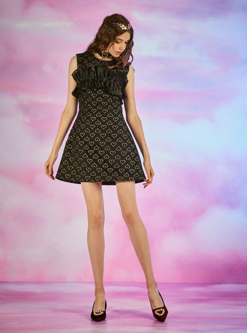 (SIZE:M)金色心形連衣裙