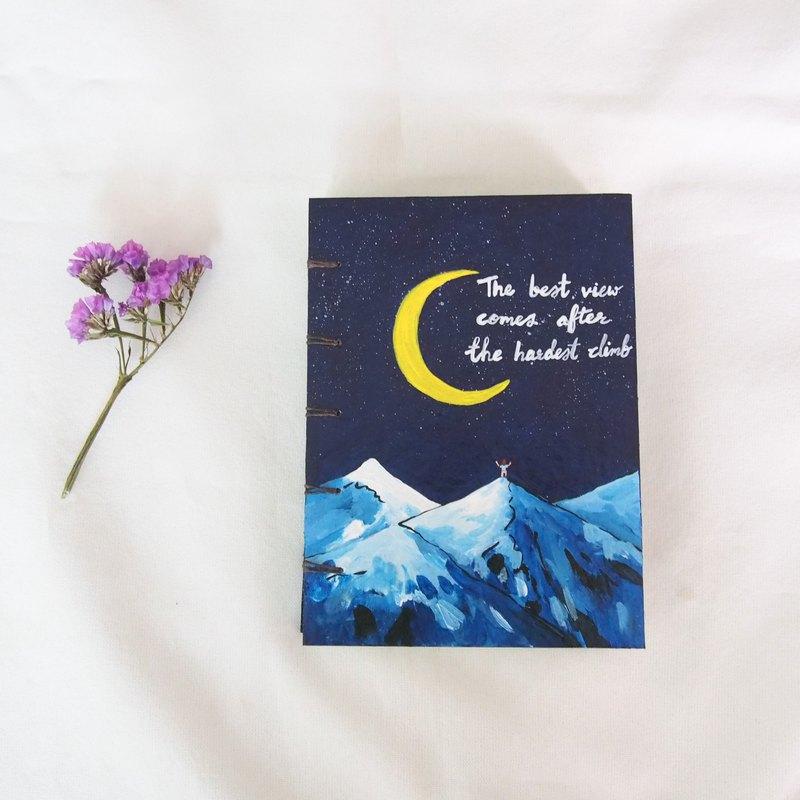 擁抱我的山脈,筆記本,筆記本,日記,手工書