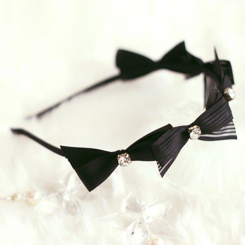 俏麗蝴蝶結閃石頭箍