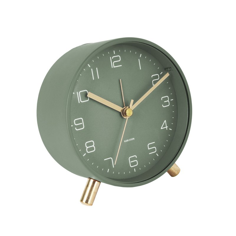 荷蘭Karlsson, Alarm clock Lofty matt green (帶小夜燈功能)