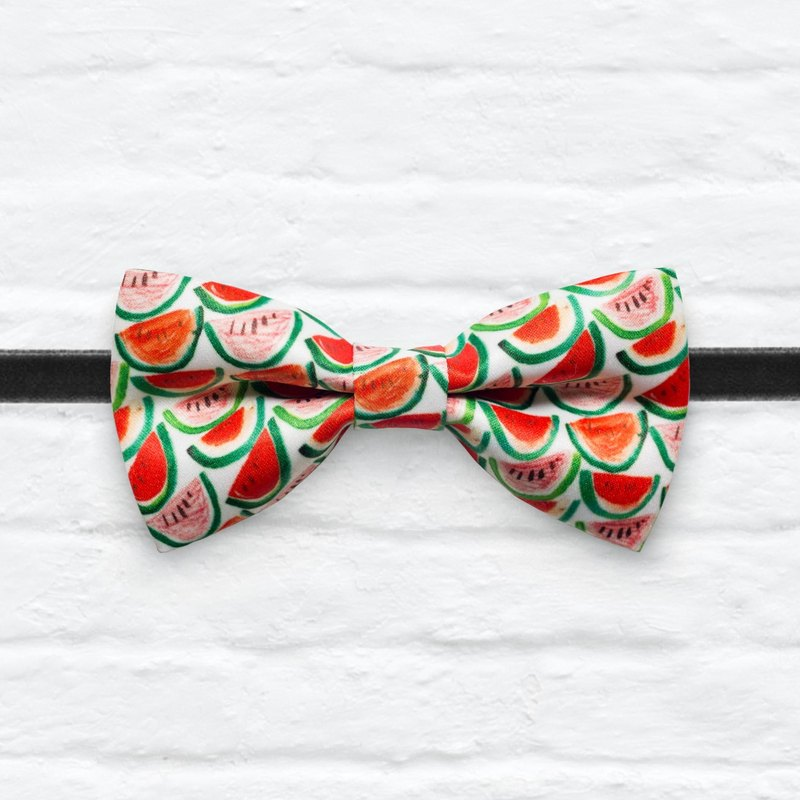 Style 0302 西瓜一片紅 印花領結 紅色婚禮煲呔 領結 髮飾 寵物頸圈 項錬