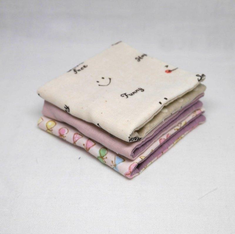 日本手工製作6層紗布迷你手帕/ 3件1單元