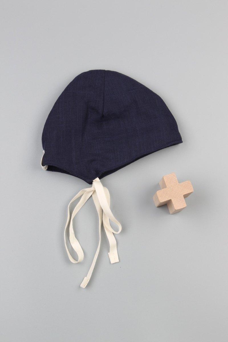Bonbies.日本純棉純色雙面二重紗布.手工小帽子.一個男孩的藍天.