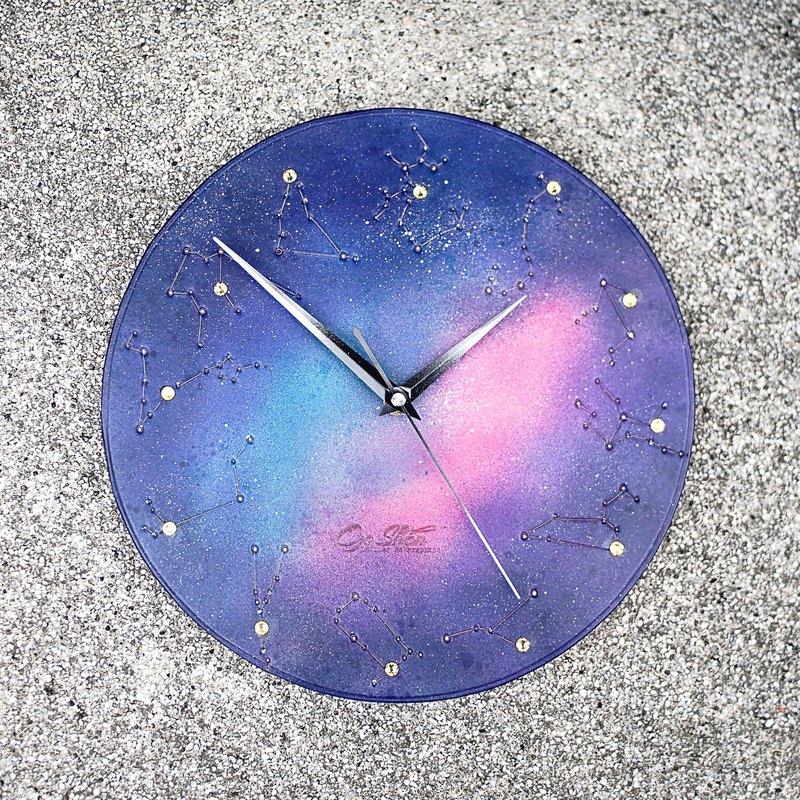心中的小宇宙-時間的承諾 真皮時鐘 掛鐘