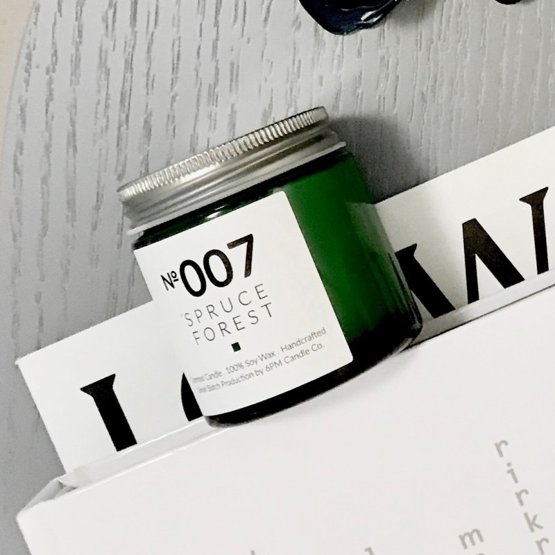 007 雲杉‧森林【木質調】香氛蠟燭 擴香瓶