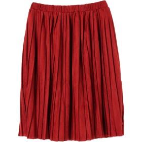 【6,000円(税込)以上のお買物で全国送料無料。】フェイクスウェードプリーツスカート
