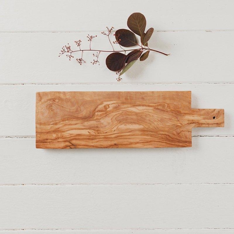 英國Naturally Med橄欖木長方形40公分含把手砧板/餐板/展示板