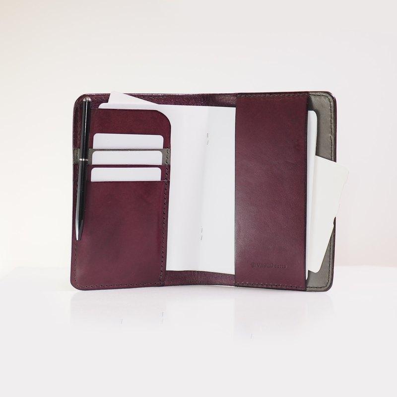 悠閒假期護照套 - 紫色拼灰色
