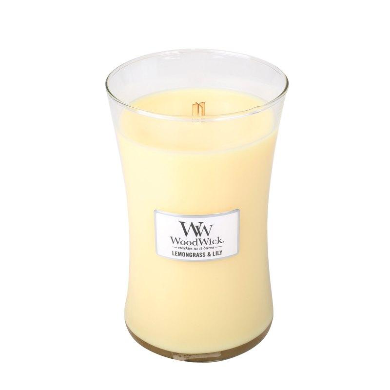 【VIVAWANG】 WoodWick香氛大杯蠟  水仙檸檬草
