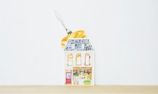 鬆餅 問候卡 卡片 日本文具