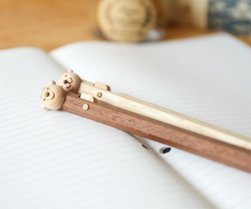 旭川工藝 Craft 鈴來 動物夥伴木製原子筆