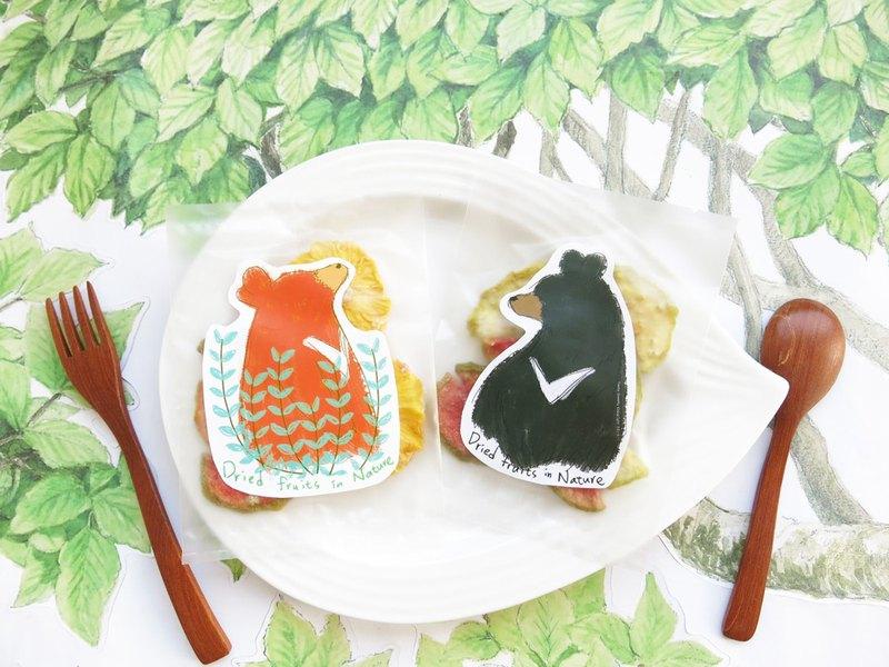 幸福果舖-黑熊橘熊水果乾綜合包-單包