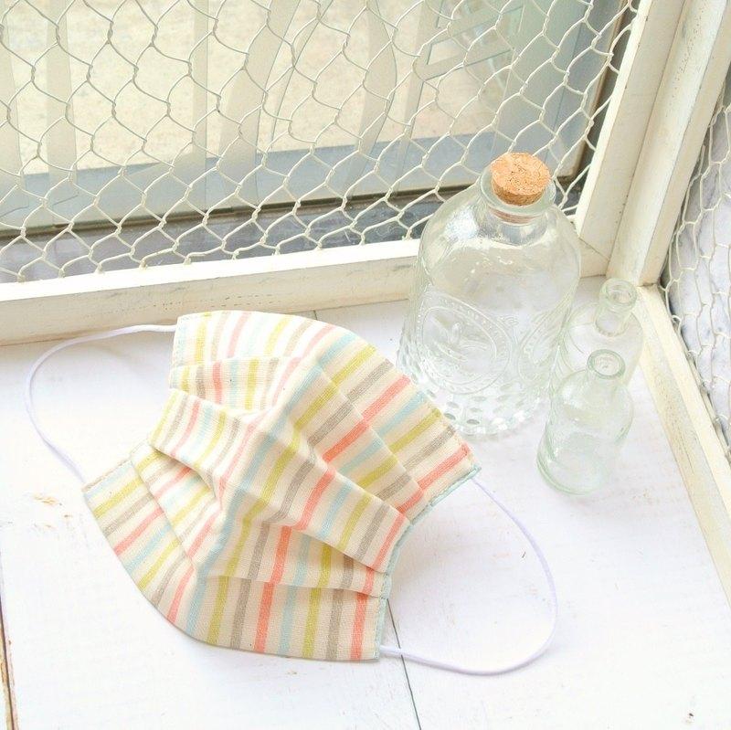 多色 手工立體口罩 可洗滌 日本製純棉二重紗布 灰色 粉紅色 成人