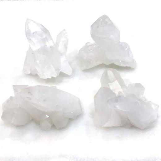 『晶鑽水晶』天然白水晶簇 超白亮透 (漂亮雙尖體) 淨化水晶 防小人必備 150-153