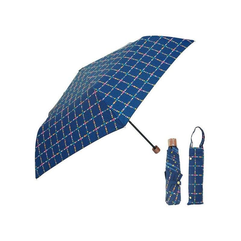 日本Prairiedog 晴雨兩用抗UV摺疊收納傘+收納傘袋-深海藍