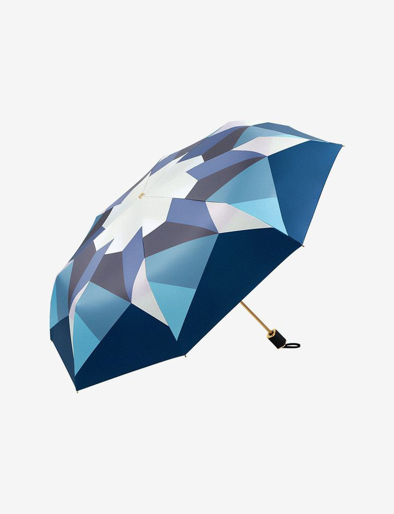 Boy 摺疊雨傘 - BY3052 Mosaic - Indigo 魅藍 (FO)