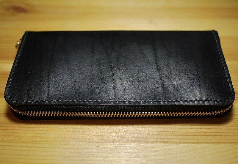 小島手工拉鍊長夾 Leather Zip Around Wallet