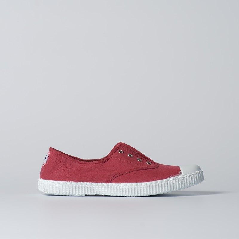 西班牙國民帆布鞋 CIENTA  70997 20 波爾多紅 經典布料 大人