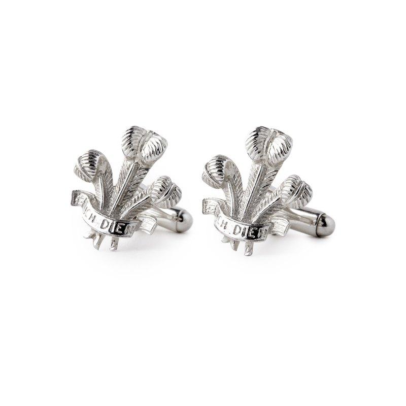 英國製造 925純銀皇室紋章袖扣 sterling silver cufflinks