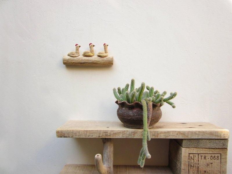 飛禽壁掛,壁雕,鉤針牆壁裝飾