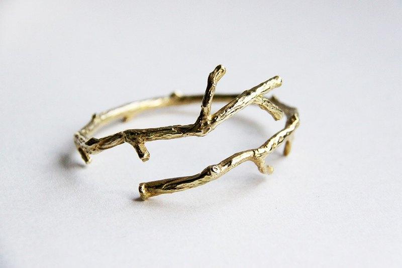 樹枝黃銅手環