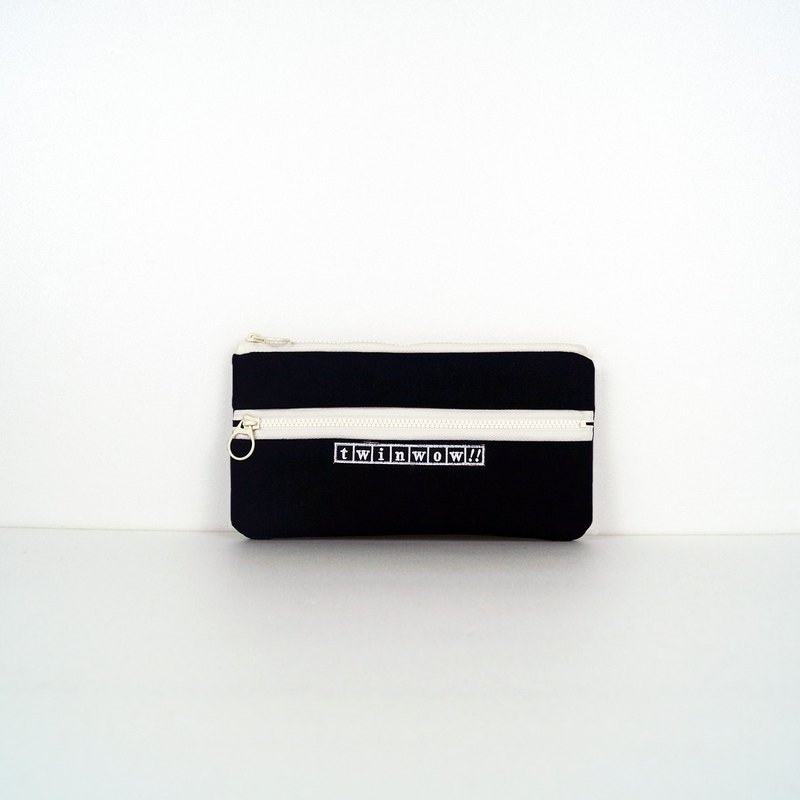 俐落時尚 - 細緻質感收納包 - 時尚黑白