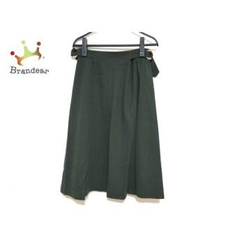 レリアン Leilian スカート サイズ9 M レディース 美品 ダークグリーン   スペシャル特価 20200114