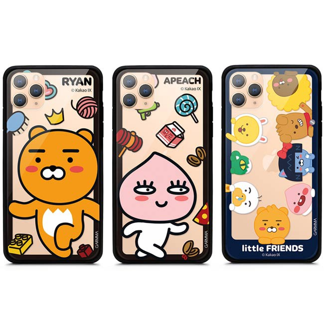 GARMMA KAKAO FRIENDS iPhone 11 Pro XS XR Xs Max 7/8 Plus玻璃殼