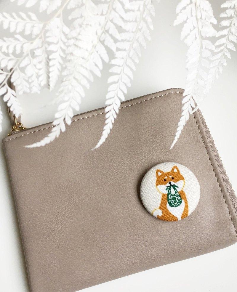 手作發柴口袋零錢包 L型拉鍊短夾 卡片夾 生日 情人 聖誕交換禮物