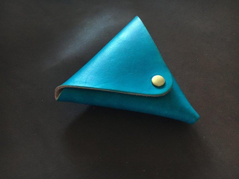 手工染色三角零錢包 顏色可選染