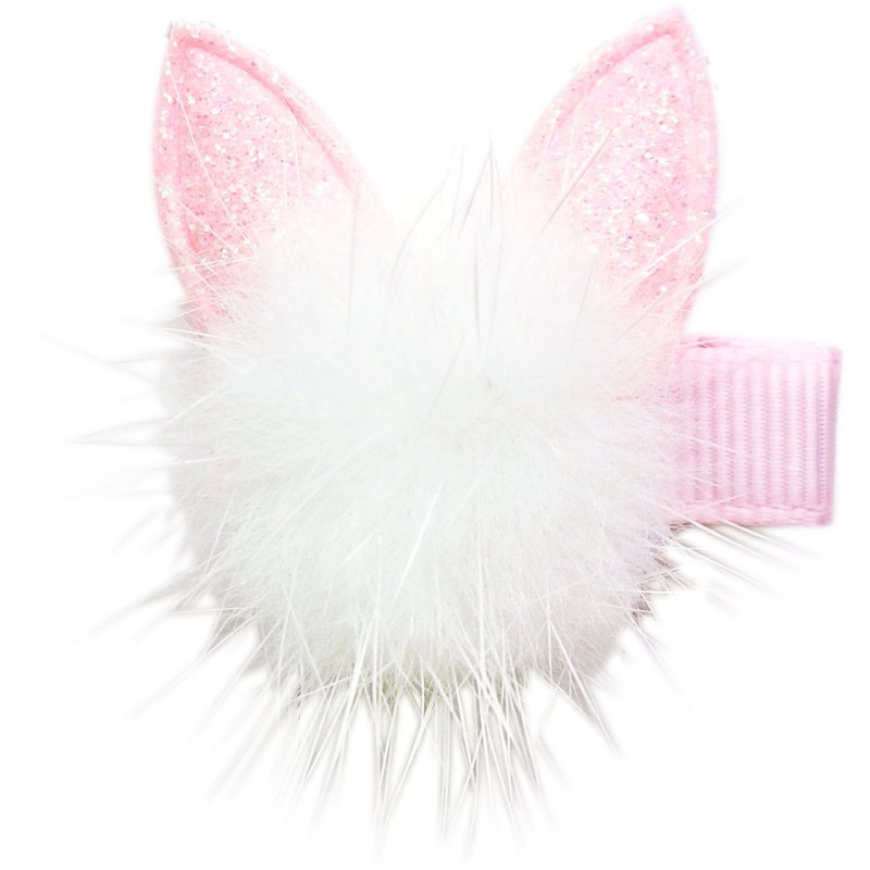 貂毛貓咪髮夾 全包布手工髮飾 Marten Hair Cat-Pinky