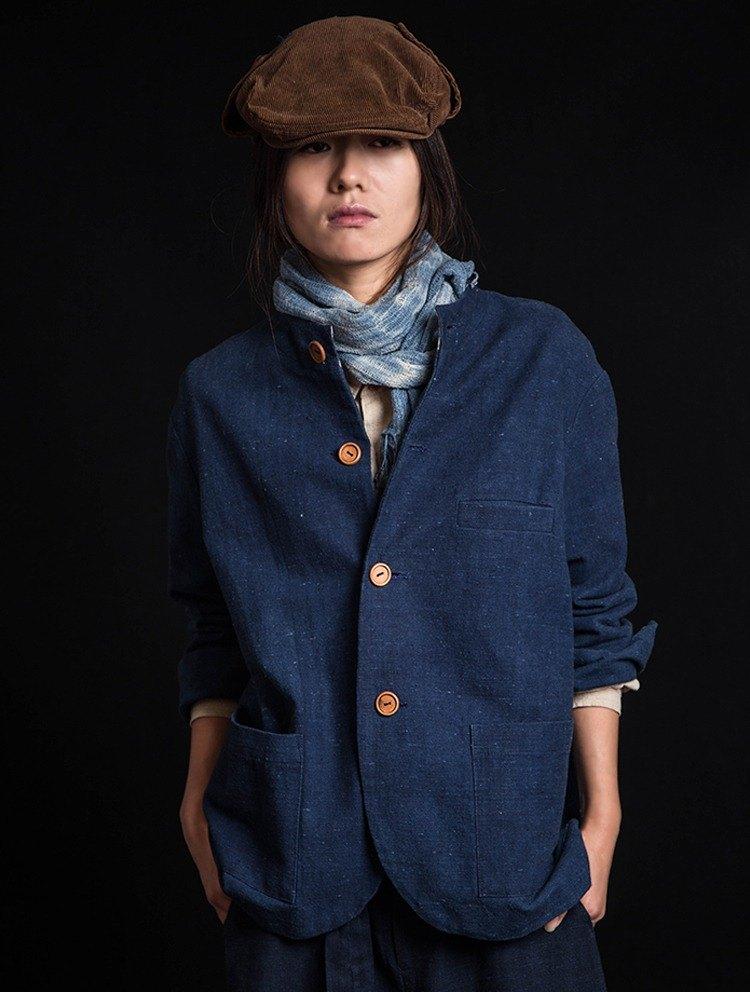 孤品 - 古法藍染手捻紗手工老布外套