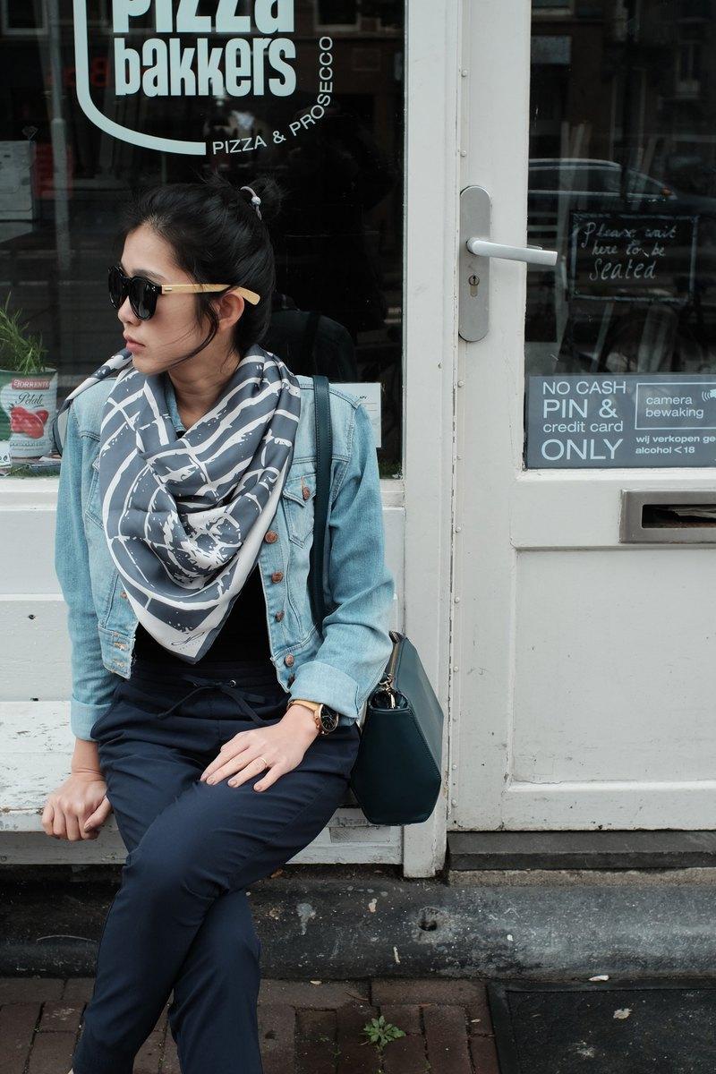 元素木製圍巾