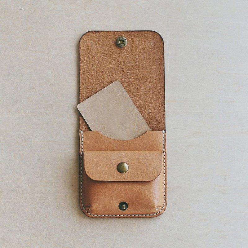 【小方包/零錢卡包】MISTER手作材料包 客製化刻字真皮