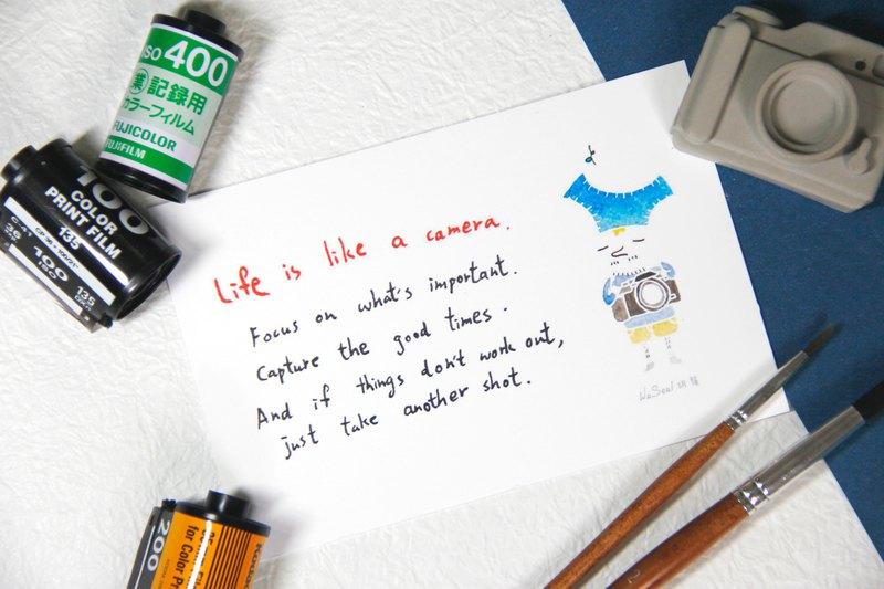 心靈 語錄 攝影 明信片 Postcard - Life is like a camera