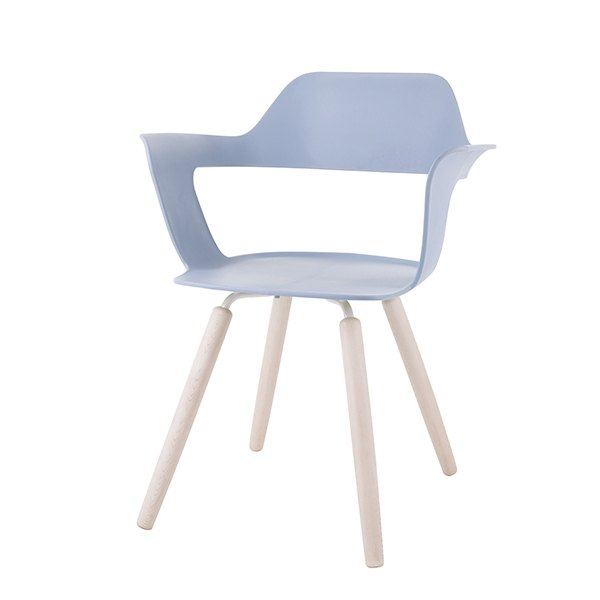 MUSE 沐司_四腳椅/透藍 | 木紋腳 (商品僅配送台灣地區)