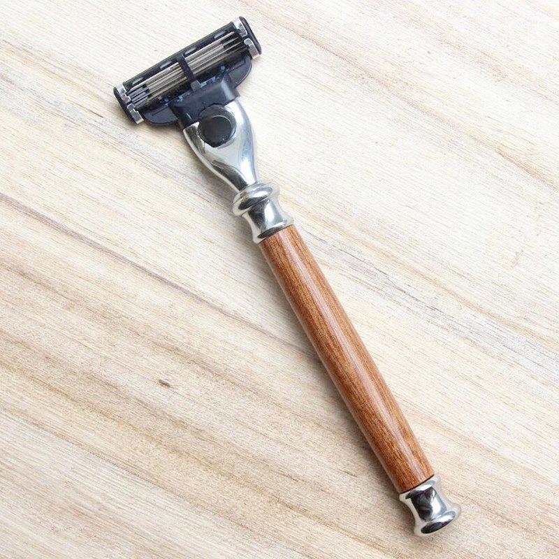 防水紅影木剃鬍刀