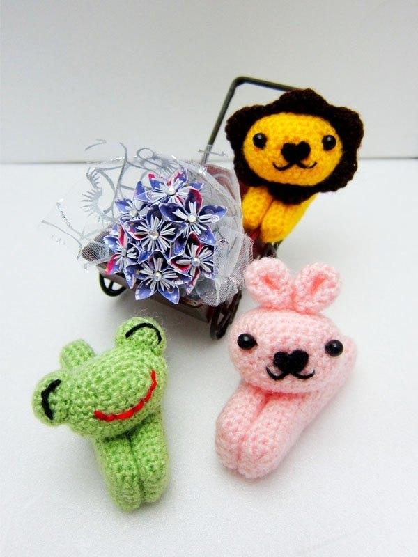 可愛動物夾子(青蛙、兔子、獅子)