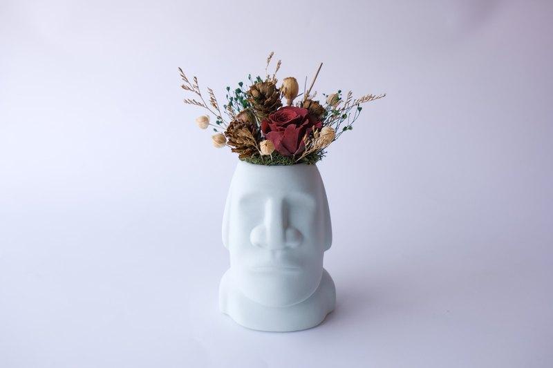 【摩艾巨人】 粉色/黃色/不凋花/永生花/乾燥花/盆栽