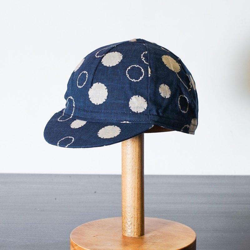 手工單車小帽 日本水玉圖案