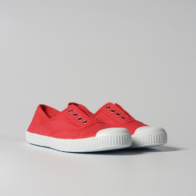 西班牙國民帆布鞋 CIENTA  70997 49 草莓紅色 經典布料 大人