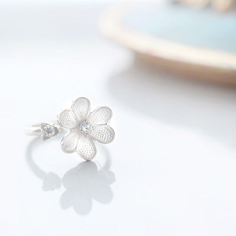 白花戒指925銀