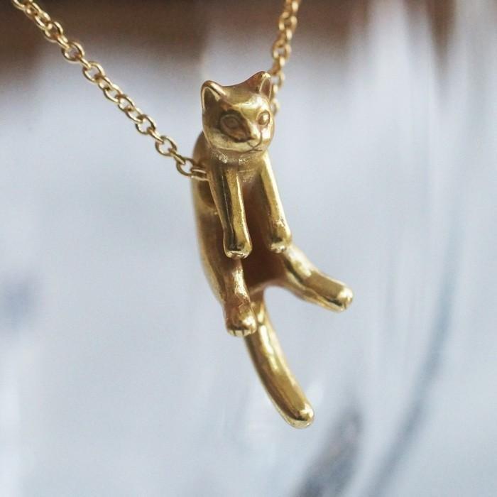Guri 和 Latu 貓吊墜 Guri Antique 金