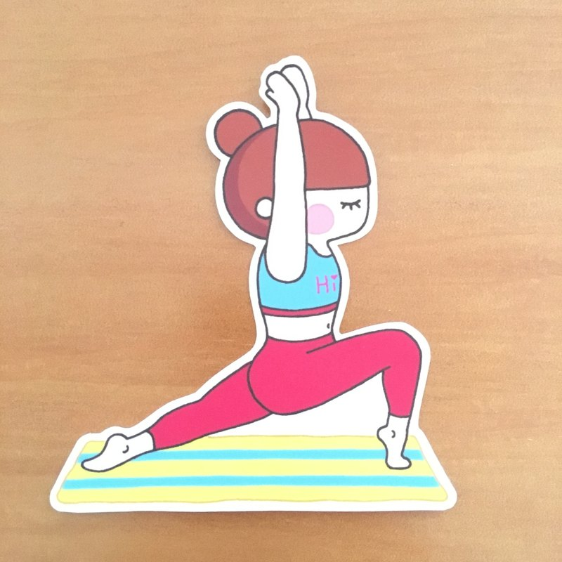 瑜珈女孩系列中型防水貼紙 –SM0040