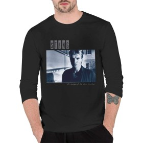 スティング Tシャツ 長袖 メンズ ファッション カジュアル 柔らかい 快適 春秋冬 Black L