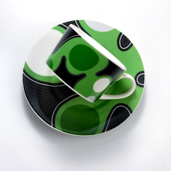 ★水玉點點控★TAISO 普普風咖啡杯組-亮眼綠