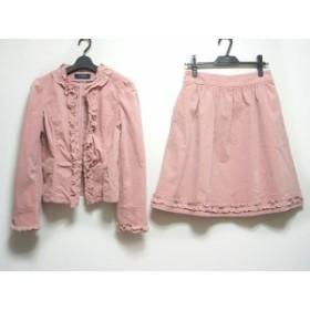 エムズグレイシー M'S GRACY スカートスーツ サイズ40 M レディース ピンク フリル【中古】20191003